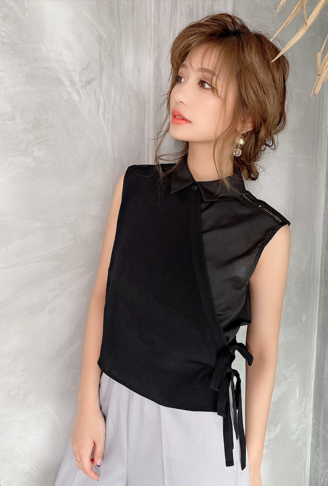 SIDE RIBBON LAYERED TOPS